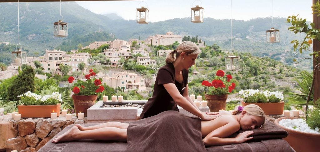 Spa on the terrace at The enormous indoor pool at Belmond La Residencia - MallorcanTonic offers confirmed room upgrades - Majorca
