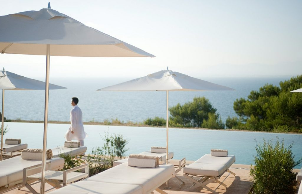 Service with a smile at the swimming pool at Cap Rocat - Luxury Hotels - MallorcanTonic