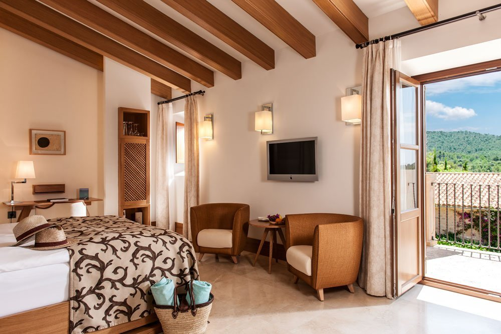Spread out and enjoy the luxury bedrooms at Castell Son Claret