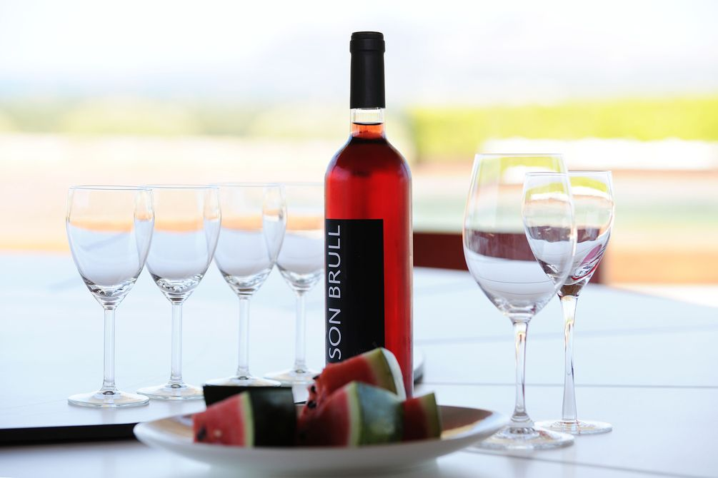 Sip a glass of Son Brull Rural Sanctuary wines