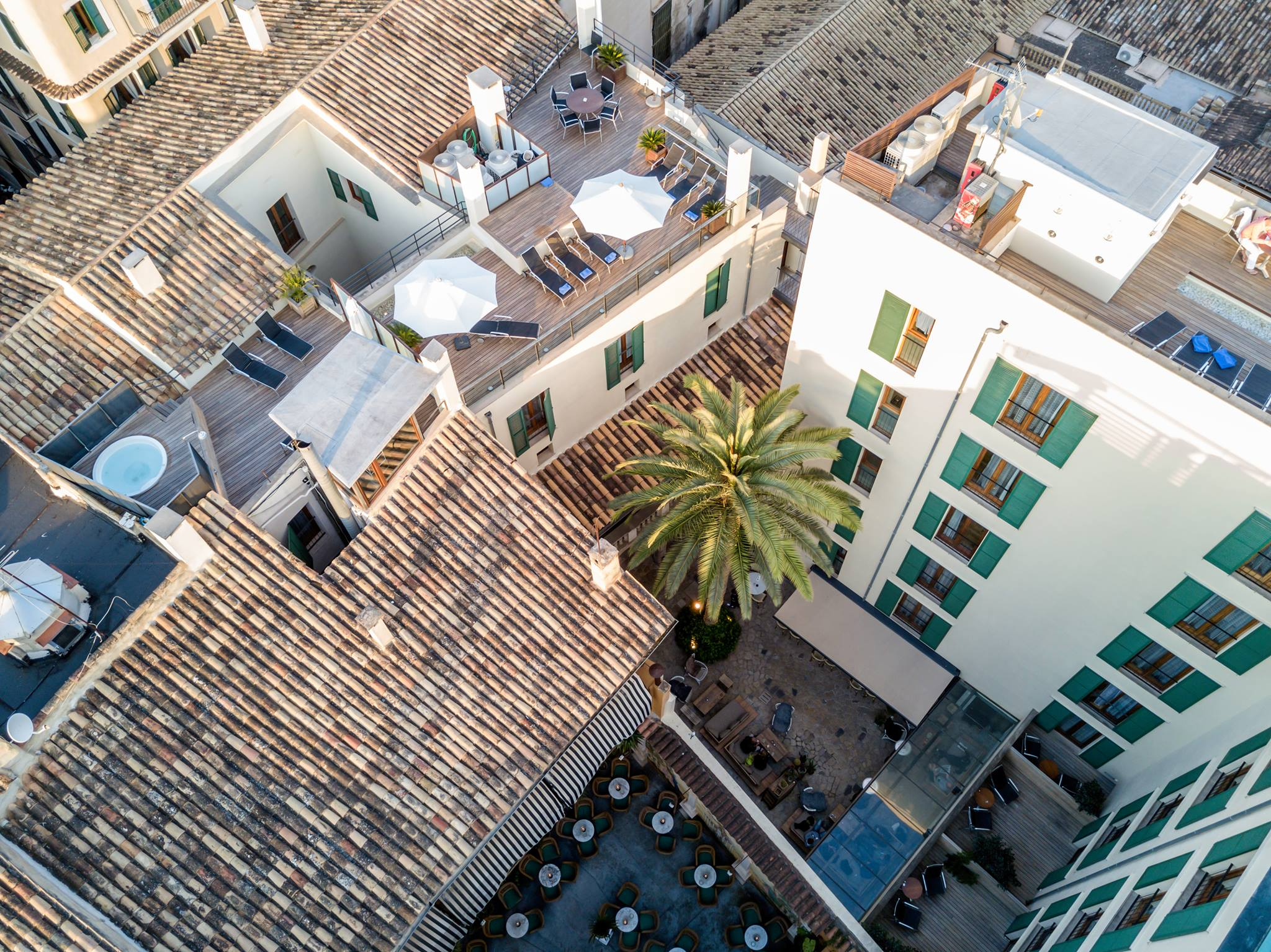 Aerial view of Hotel Tres - Palma - Mallorca