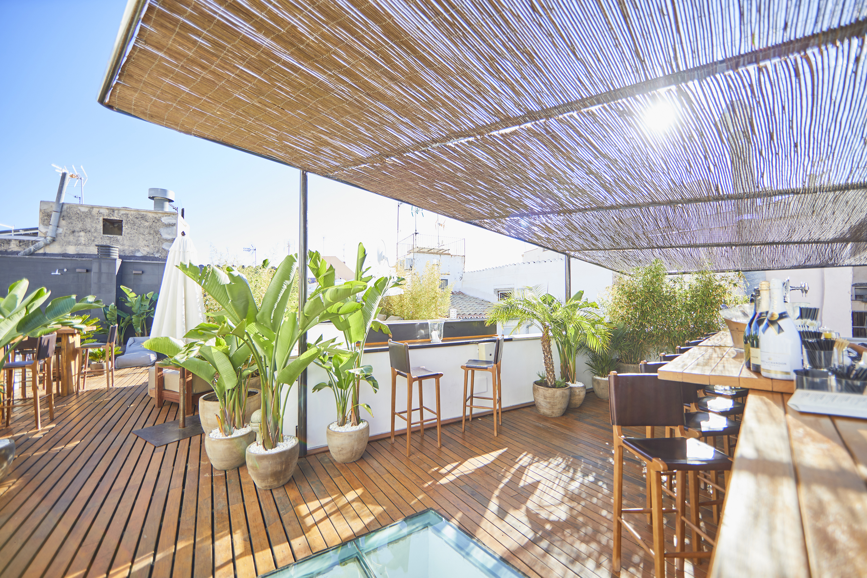 Canopy bar area and roof terrace - Luxury hotels Palma
