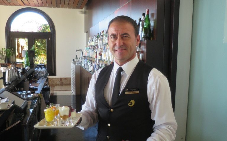 Juan Carlos serving - Best Breakfast in the World - Mallorca