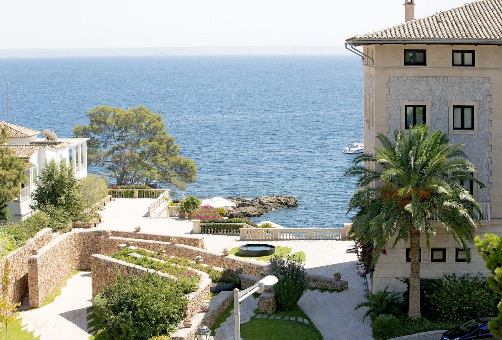 View out to sea from Hospes Maricel and Spa Hotel - Mallorca
