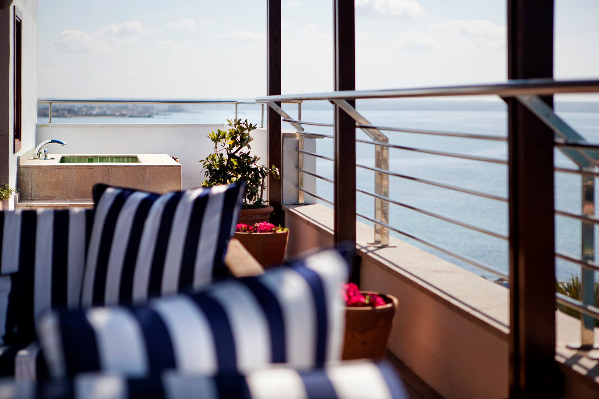 Sit outside on your terrace at Portixol Hotel Port House View