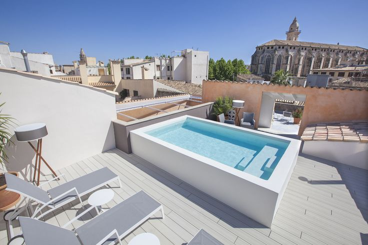 Plunge into the roof top pool at Posada Terra Santa Palma - Luxury Hotels MallorcanTonic
