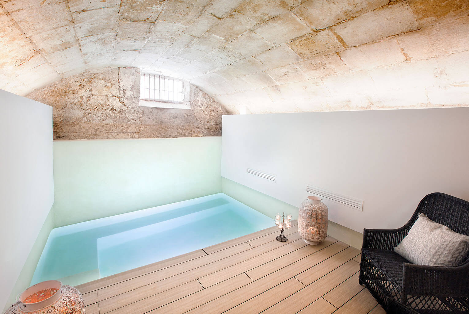 Jump into the boutique plunge pool at Posada Terra Santa Palma Spa - MallorcanTonic