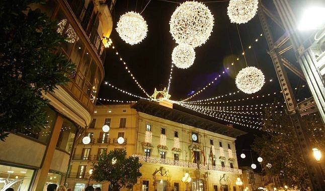 Christmas Lights - Placa Cort Palma - Winter in Mallorca