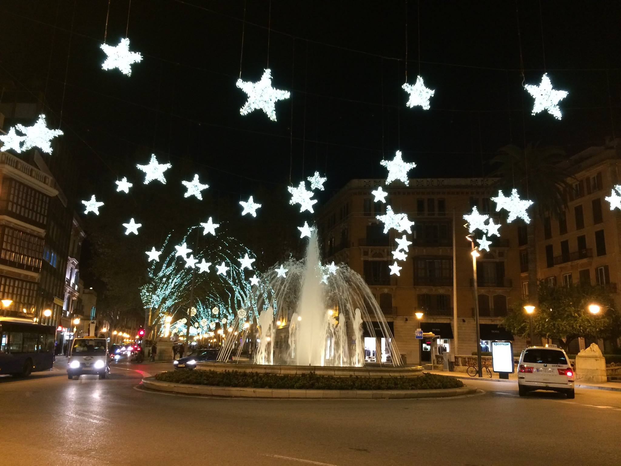 Christmas Fountain Passeige Born - Christmas in Mallorca