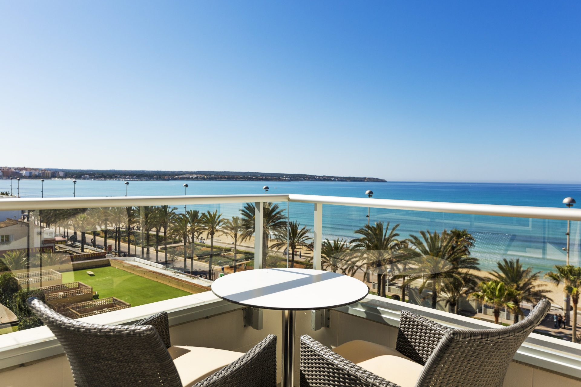 Table for two - Drinks on the terrace Pure Salt Garonda - Luxury Hotels - Amazing views - Playa de Palma - Mallorca