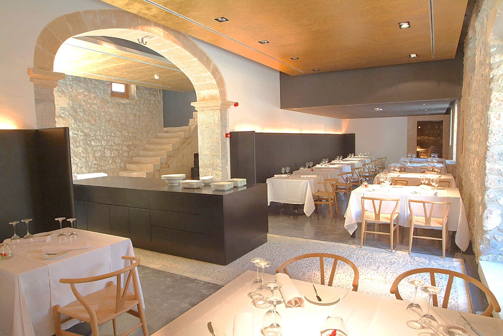 The dining room at Son Brull - Restaurant 365