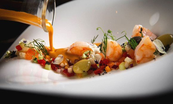 Adrian Quetglas´s seafood soup - Michelin star Palma