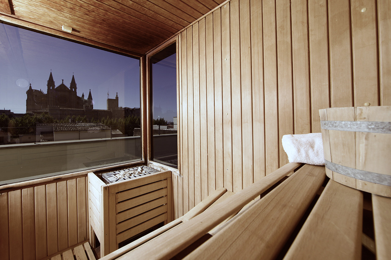 The best view of Palma from a sauna -Hotel Tres