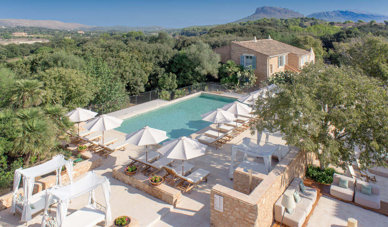 Rural Predi Son Jaumell pool from above - 10% off rates
