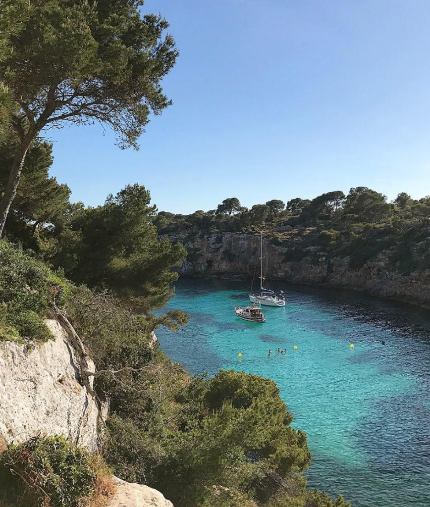 Cala Pi turquoise waters