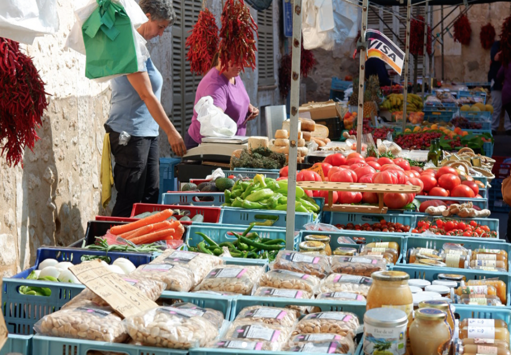 Fruit and Veg at Sineu Market - MallorcanTonic