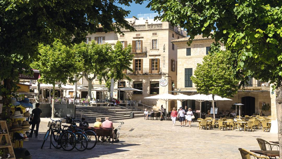 Main Square Pollensa Old Town