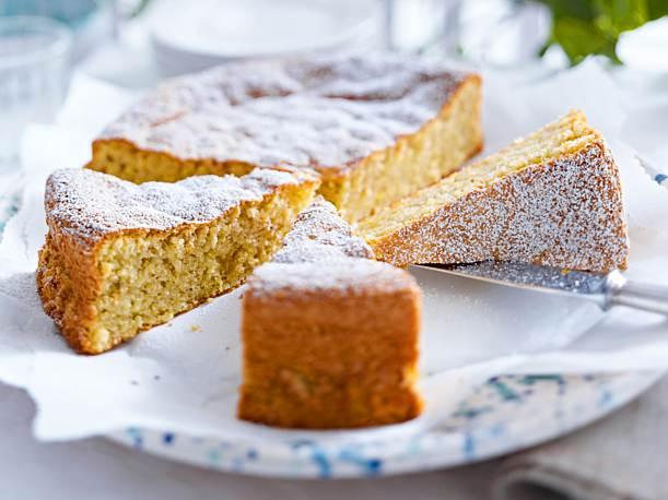 Whole Almond Cake Sliced