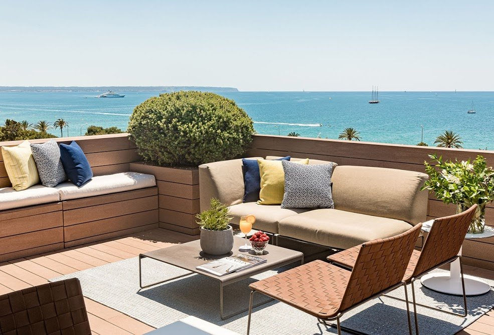 Lounge area on the roof terrace of Boutique Hotel Calatrava - Palma