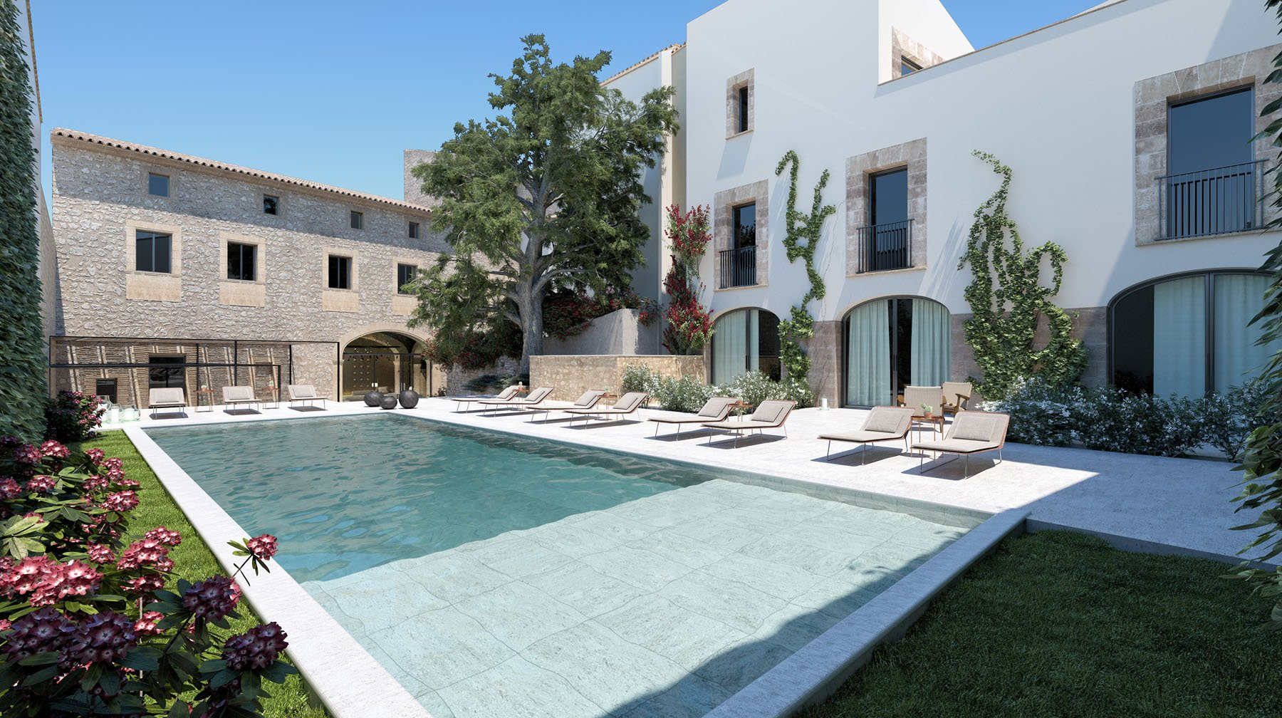 Boutique Hotel Can Aulí - Pool Terrace