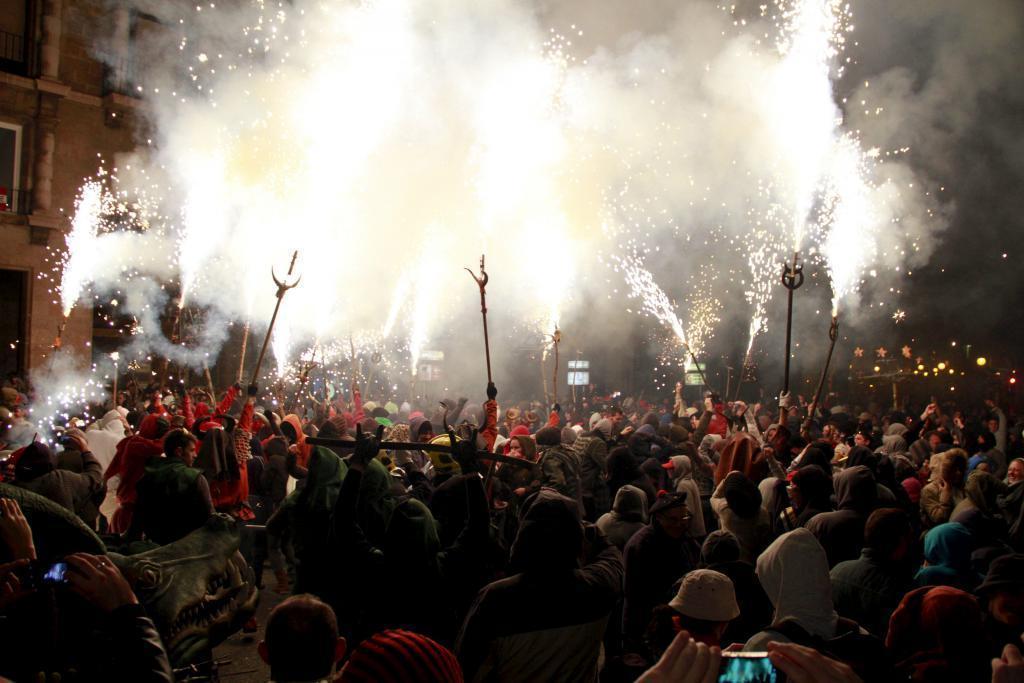 Correfoc at Fiesta de Saint Sebastian Palma